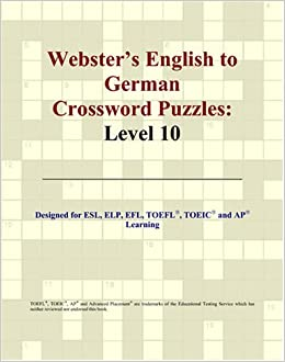 Book Webster's English to German Crossword Puzzles: Level 10 (German Edition)
