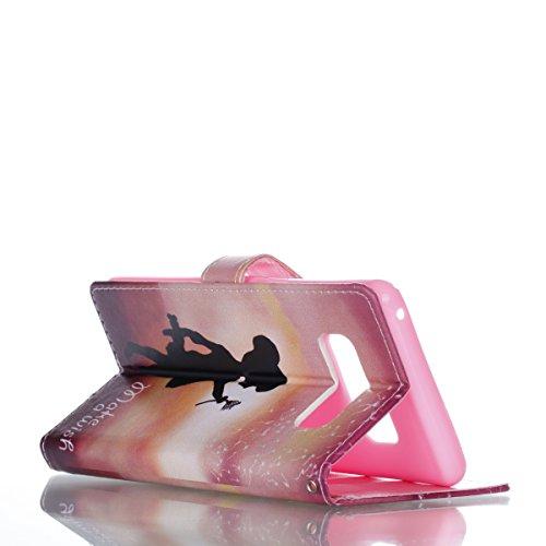 Fundas para Samsung Galaxy Note 8, Galaxy Note8 Carcasa, Vandot Pintado PU Cuero TPU Interior Lindo Mariposa Girasol Flor Diseño Bookstyle Flip Case Cover Cajas de Teléfono Cáscara con Acollador Bille Patron 1