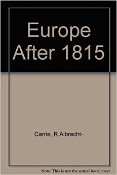 Europe After Eighteen Fifteen (Littlefield, Adams quality paperback)