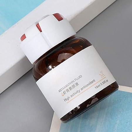 Suero de astaxantina Antioxidante, abrillantador Manchas de desvanecimiento Solución reparadora de la piel Líquido aclara el tono de la piel Suero facial antiarrugas Arrugas Facial con ácido
