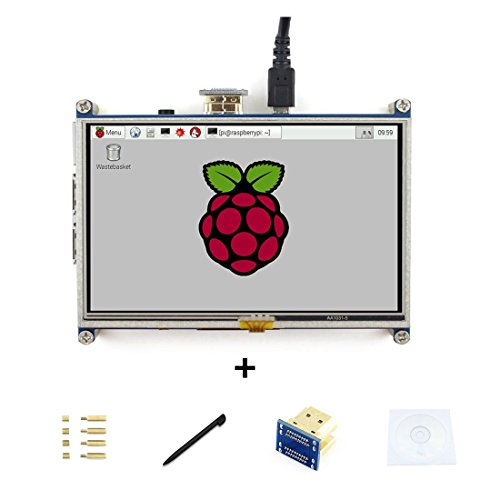 5inch Raspberry pi HDMI LCD Display Module Resistive Touch Screen 800480 High Resolution HDMI Interface for Raspberry Pi Directly Connect