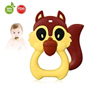 Baby Teething Toys by Autsmile: Soft, Silicone Massaging Squirre Teether,Unique Design