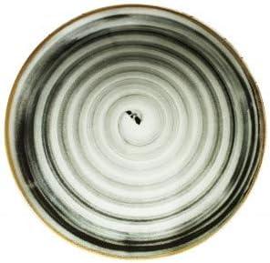 Saturnia Set 6 Piatti Pizza Porcellana cm 33 Modello Black Round