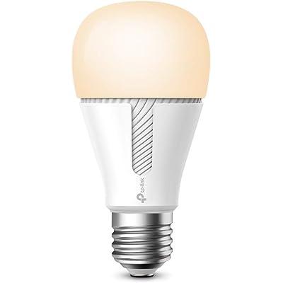 TP-Link - Bombilla inteligente LED, Bombilla WiFi sin necesidad de hub, Luz Blanca Cálida Regulable, compatible con Amazon Alexa y Google Home, 800lm (KL110)