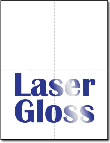 Postcards 4-up Laser Gloss - 250 Sheets / 1000 Postcards by Desktop Publishing Supplies, Inc.