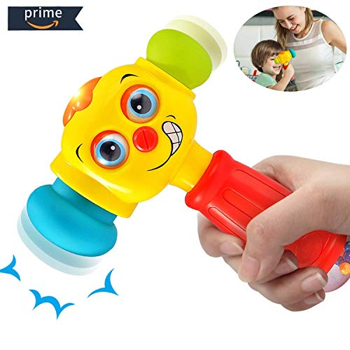 HOMOFY Baby Toys Funny Changeable Hammer Kids Toys for 6 Mon