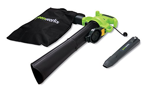 Greenworks 24072 12A 235MPH Variable Speed Corded Blower/Vac includes Metal Repeller ()