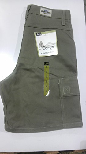 3 Dungarees (Lee - Kids Relaxed Fit Cargo Plain Front Brown Shorts Size 3 Waist)
