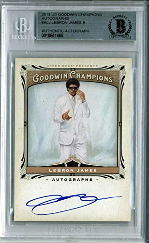 (Lakers Lebron James Autographed Signed 2013 Ud Goodwin Champions #Alj Card Bas)