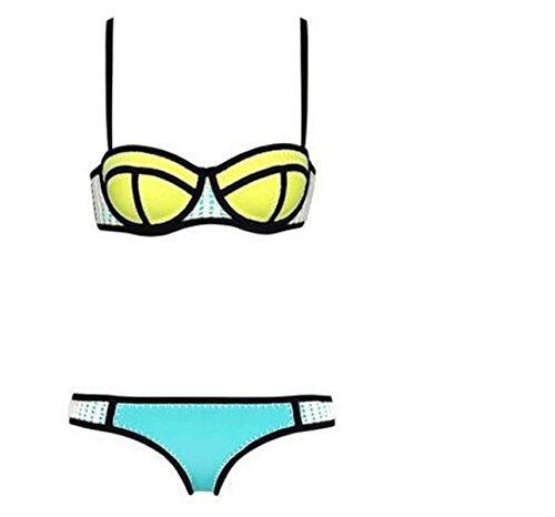 TAOZHN Bikini Femenino S L Deportes Acuáticos Traje De Baño Fitness Bikini Elegante Movimiento Yellow