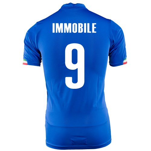ヤギ頂点呪いPUMA IMMOBILE #9 ITALY HOME JERSEY WORLD CUP 2014/サッカーユニフォーム イタリア代表 ホーム用 ワールドカップ2014 背番号9 インモ―ビレ