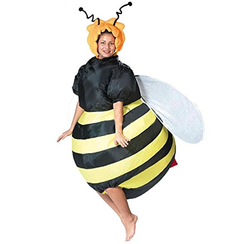 Inflatable Bumble Bee Costumes For Women Halloween Adult Fancy Dress Outfit Cosplay Animal Purim Party Blow Up Carnival Suit