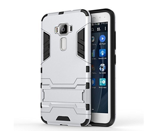 Asus ZenFone 3 Deluxe ZS550KL Case, AVIDET Shock-Absorption and Anti-Scratch PC+TPU Back Case Cover for Asus ZenFone 3 Deluxe ZS550KL (Silver)