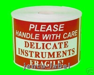 Jenco-Label ML23105, 500 2x3 Delicate Instruments Fragile Labels