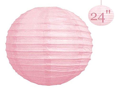 BalsaCircle 12 pcs Pink 24-Inch tall Paper Shades