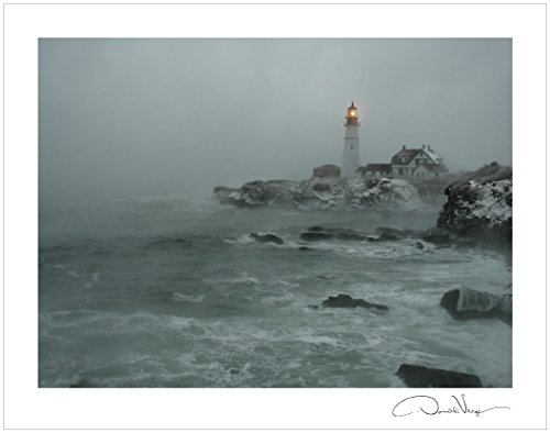 Storm Fog Lighthouse Signature Collection
