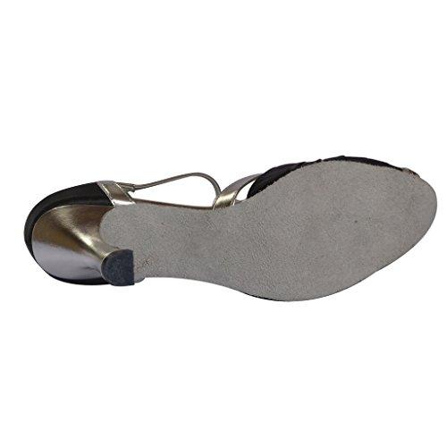 Foo Open toe Pour Latine Salsa nbsp;cm Talon Femmes De Jig Tango Sandales 6 Chaussures Danse Avec 7 dAqUdE