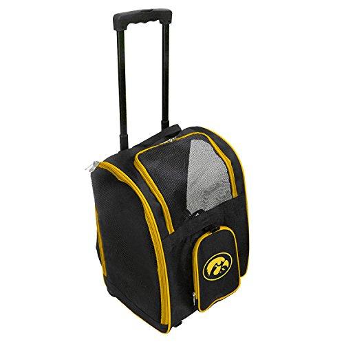 Denco NCAA Iowa Hawkeyes Premium Wheeled Pet Carrier from Denco