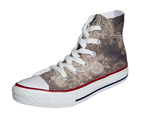 mys Converse All Star Customized - Zapatos Personalizados (Producto Artesano) Gold Paisley