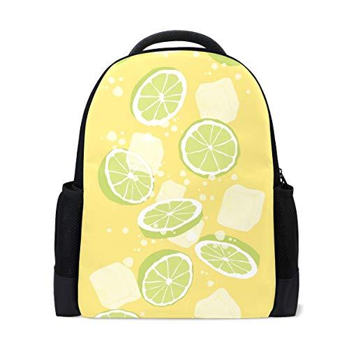 Price comparison product image MALPLENA Daypack Hiking Ice Lemon Juice Travel Bag School Bag