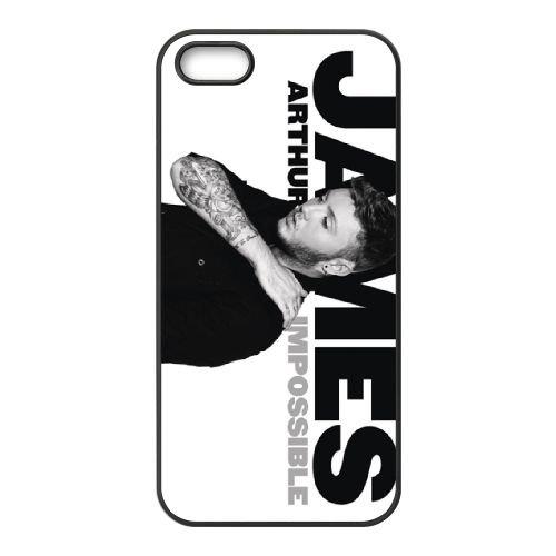 James Arthur 003 coque iPhone 5 5S cellulaire cas coque de téléphone cas téléphone cellulaire noir couvercle EOKXLLNCD24669