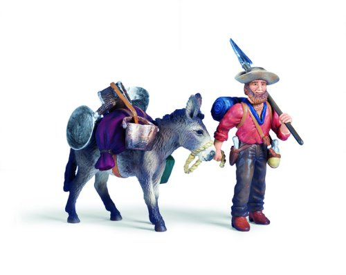 - Schleich Gold Prospector with Donkey