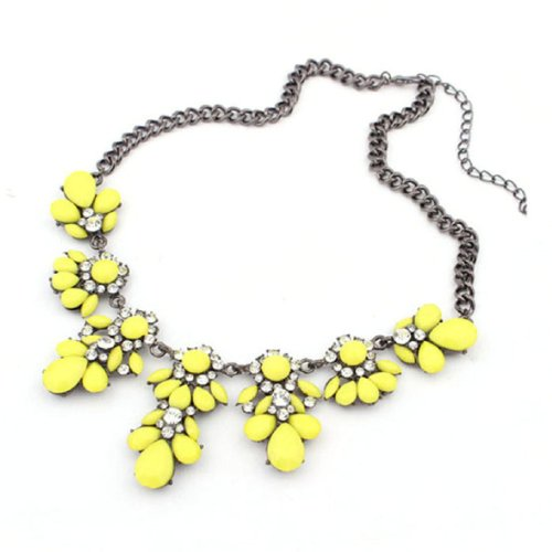 TONSEE Flower Crystal Choker Women Necklace