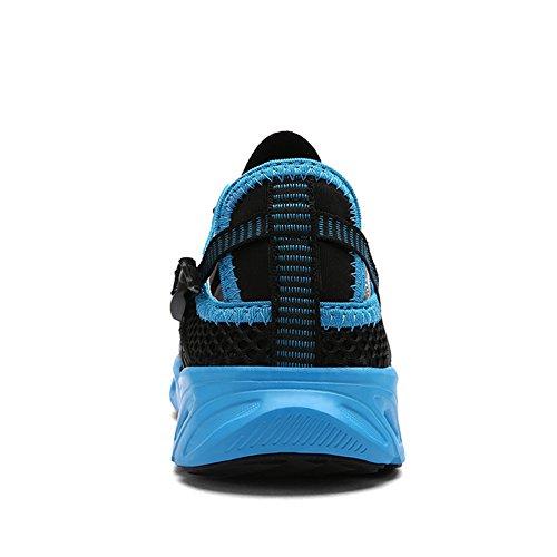 Jeater Damen / Herren Wanderschuhe Outdoor Atmungsaktive Mesh Water Shoes Schwarz35