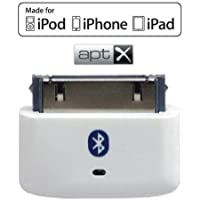 KOKKIA i10s + aptX (Luxurious White) Tiny Bluetooth iPod Transmitter for iPod/iPhone/iPad/iTouch with true Apple authentication, delivers cleaner audio with reduced latency for aptX Bluetooth receivers.