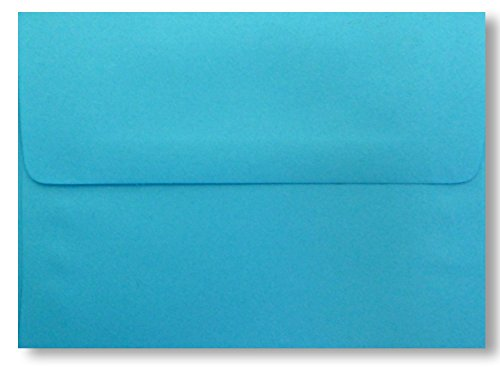 Bright Blue 50 Boxed A7 Envelopes for 5 X 7 Invitations, Announcements from The Envelope Gallery