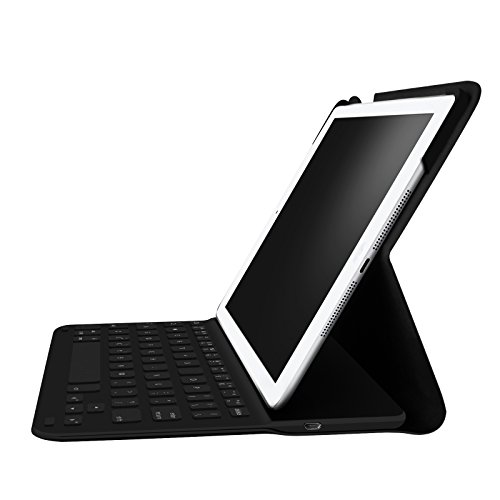 Built In Keyboard (Fintie iPad 9.7 inch 2017 / iPad Air Wireless Keyboard Case - Ultrathin Folio Stand Cover with Built-in Bluetooth Keyboard for Apple New iPad 9.7 inch 2017 / iPad Air (2013 Model) - Black)