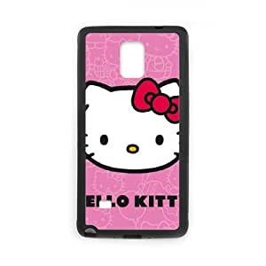 Hello Kitty Face Pink Samsung Galaxy Note 4 Cell Phone Case Black toy pxf005_5767072