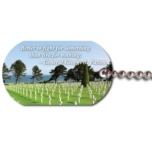World War II Normandy Omaha Beach Dog Tag - Patton Quote