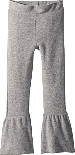 Chaser Kids Baby Girl's Extra Soft Peplum Flare Pants (Toddler/Little Kids) Heather Grey 6 by Chaser Kids