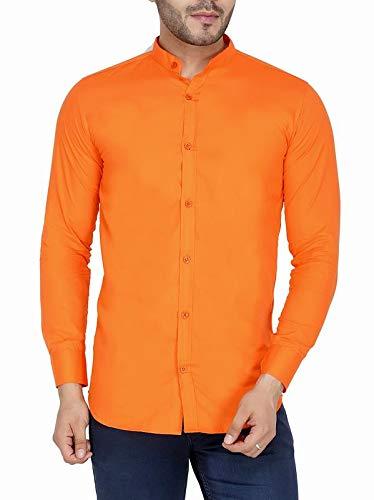 JAI TEXTILES Men #39;s Cotton Solid China Collar Shirt