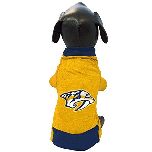 NHL Nashville Predators Athletic Mesh Dog Jersey, Small, Gold