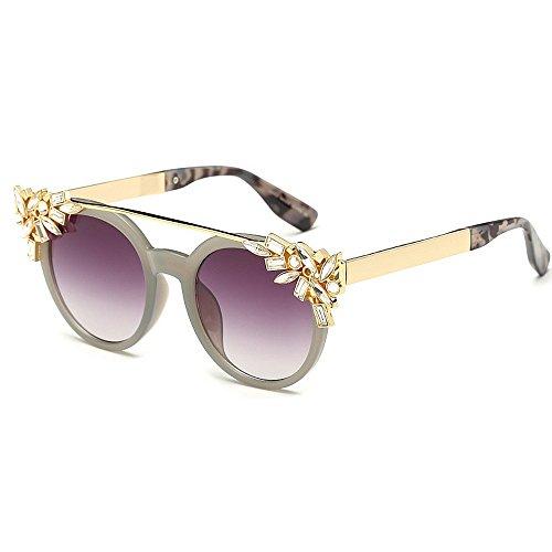 las vacaciones pequeña gafas sol de de de Protección cristalinas las redonda sol las de de conducción aire de ligero al ULTRAVIOLETA las la para libre Ultra de Playa del ve forma Gafas mujeres mujeres UMzKRZKfqw