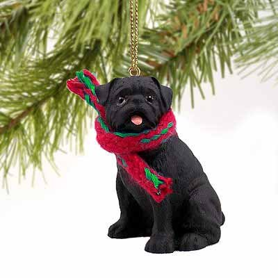 g Ornament - Black by Conversation Concepts (Pug Dog Christmas Tree Ornament)