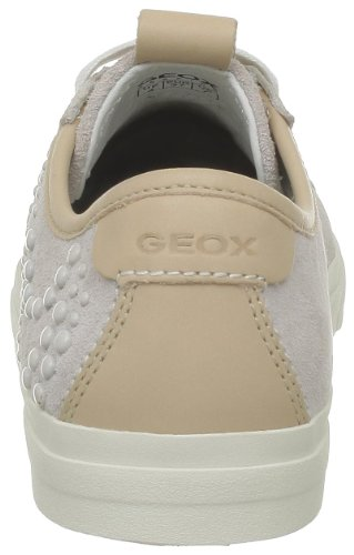 Geox - Zapatillas de deporte de cuero para mujer Blanco (Blanc (C1002))