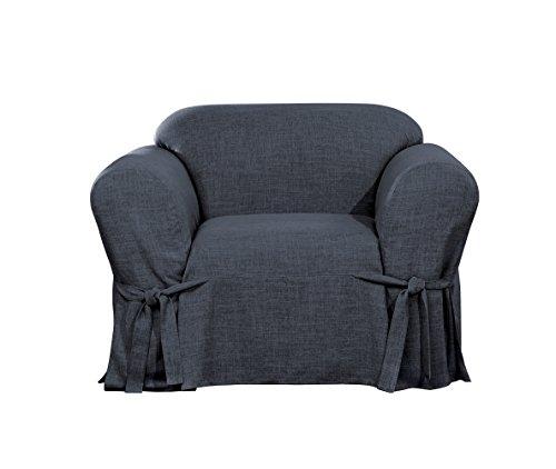 Sure Fit Textured Linen Chair Slipcover - Indigo Blue