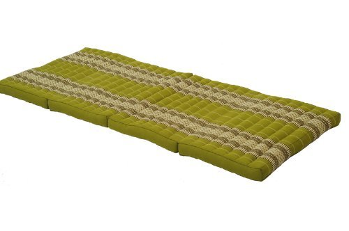Foldable Matress + 4 Pillows in Traditional Thai Design Bamboogreen by Thailand
