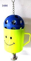 Bonka Bird Toys 1444 BIG Treat CUP Foraging Food Bird Toy Parrot Cage Craft Toys African Grey Conure Amzon