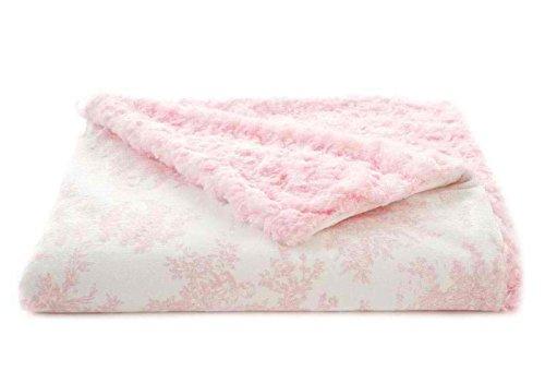 Tourance Toile Toddler Blanket, Pink, 30