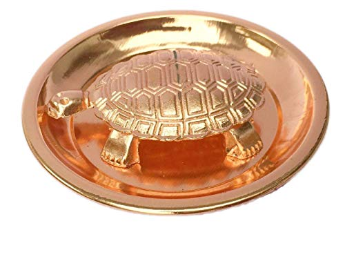 Satre Online And Marketing Copper Metal Feng Shui Vastu Turtle Tortoise Plate Set/Turtle Plate Yantra Vastu Feng Shui