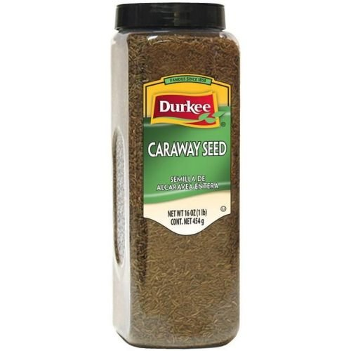 Durkee Whole Caraway Seeds - 16 oz. container, 6 per case
