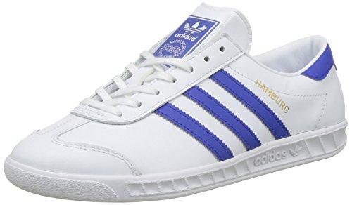 adidas Men Hamburg Shoes Trainers White (White/Bold Blue/Gold Metalic)