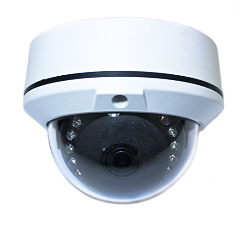 Gawker HD TVI Vandal Proof Mini Dome Camera, 1080P, IP66 Weather Proof, 3.6mm Lens, 60feet IR Distance, DNR OSD, White Color Metal case, DC12V.