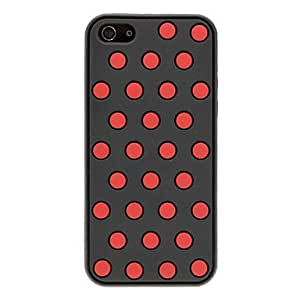 SUMCOM Round Dots Button Designed Silicone Soft Case for iPhone 5/5S (Optional Colors) , Blue