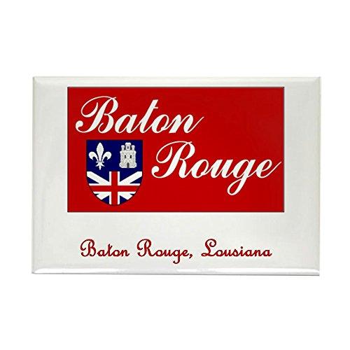 CafePress Baton Rouge LA Flag Rectangle Magnet Rectangle Magnet, 2