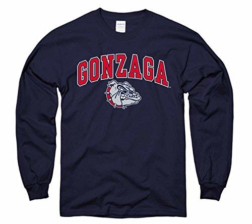 Campus Colors Gonzaga Bulldogs Arch & Logo Gameday Crewneck Sweatshirt - Navy, X-Large ()